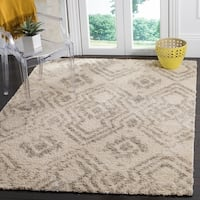 Safavieh Arizona Shag Ivory / Grey Area Rug - 9' x 12'
