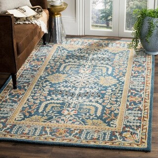Safavieh Antiquity Hand-Woven Wool Dark Blue / Multi Area Rug - 9' x 12'