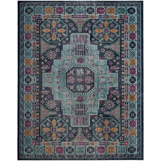 Safavieh Artisan Vintage Blue / Multi Cotton Rug (9' x 12')