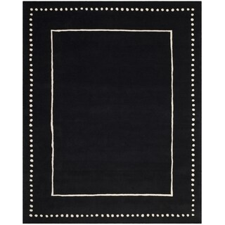 Safavieh Bella Contemporary Handmade Black / Ivory Wool Rug (8' x 10')
