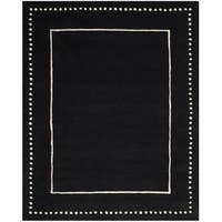 Safavieh Bella Contemporary Handmade Black / Ivory Wool Rug - 8' x 10'