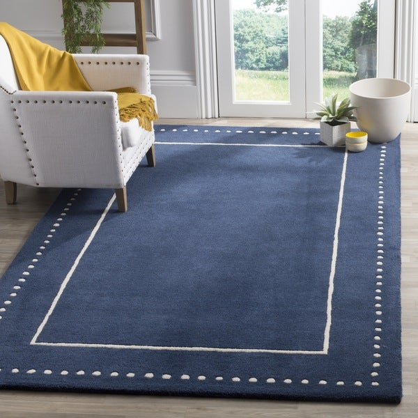 Safavieh Bella Contemporary Handmade Navy Blue Ivory