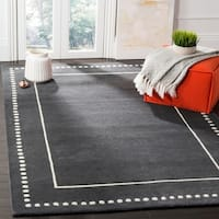 Safavieh Bella Contemporary Handmade Dark Grey / Ivory Wool Rug - 8' x 10'