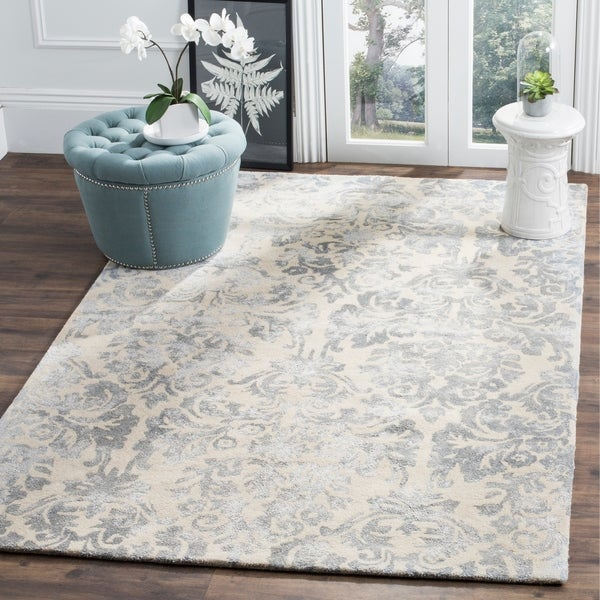 Safavieh Bella Hand-Woven Wool Ivory / Silver Area Rug - 8' x 10'