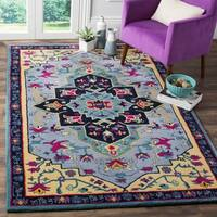 Safavieh Bellagio Hand-Woven Wool Light Blue / Multi Area Rug - 8' x 10'