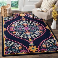 Safavieh Bellagio Handmade Boho Medallion Navy Blue/ Multi Wool Rug - 8' x 10'