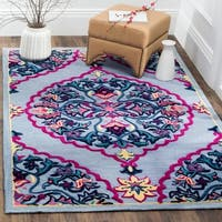 Safavieh Bellagio Hand-Woven Wool Blue / Multi Area Rug - 8' x 10'