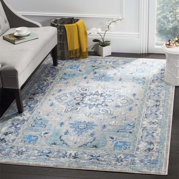 Safavieh Claremont Blue Light Grey Area Rug 8 X 10