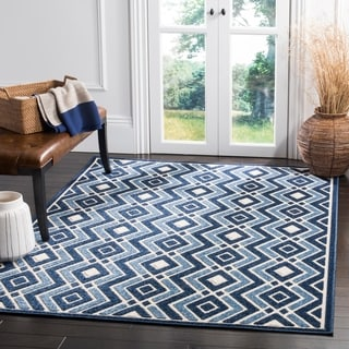 Safavieh Cottage Ivory / Blue Area Rug (9' x 12')