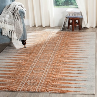 Safavieh Evoke Vintage Boho Chic Ivory / Orange Distressed Rug (9' x 12')