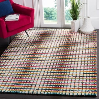Safavieh Fiesta Shag Cream / Multi Area Rug (9' x 12')