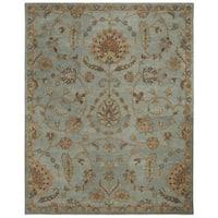 Safavieh Heritage Hand-Woven Wool / Cotton Light Blue / Multi Area Rug - 8' x 10'