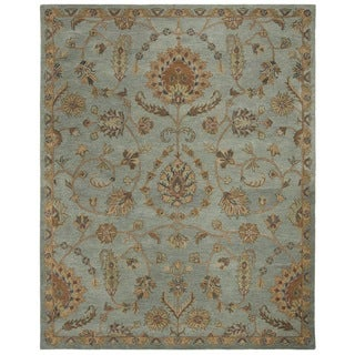 Safavieh Heritage Hand-Woven Wool / Cotton Light Blue / Multi Area Rug - 8' x 10'