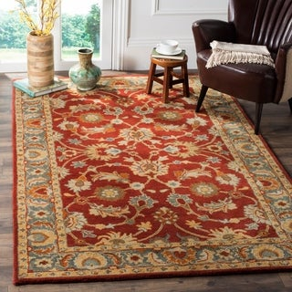 Safavieh Heritage Hand-Woven Wool Red / Blue Area Rug (8' x 10')