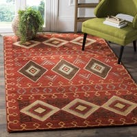 Safavieh Heritage Hand-Woven Wool Red / Multi Area Rug (8' x 10')