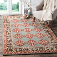 Safavieh Heritage Hand-Woven Wool Blue / Charcoal Area Rug (8' x 10')
