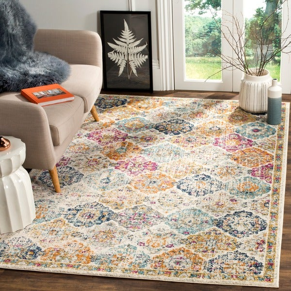 10x14 Rugs Safavieh Madison Bohemian Vintage Cream Multi Distressed Area Rug 10x27