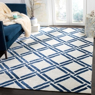 Safavieh Moroccan Hand-Woven Ivory / Blue Area Rug (9' x 12')