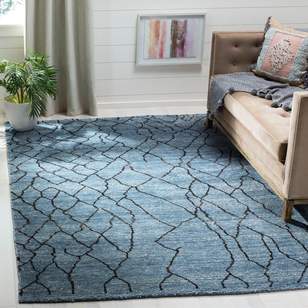 Safavieh Moroccan Blue And Black Area Rug: Shop Safavieh Moroccan Hand-Woven Blue / Black Area Rug