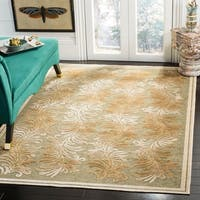 Martha Stewart by Safavieh Plume Stripe Green Viscose Rug - 8' x 11'2