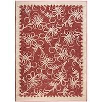 "Martha Stewart by Safavieh Fountain Swirl Red/ Ivory Area Rug - 7'11"" x 11'2"""