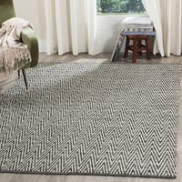 Safavieh Montauk Hand-Woven Cotton Ivory / Dark Grey Area Rug - 9' x 12'