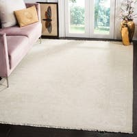 Safavieh Oushak Hand-Woven Wool Light Grey / Ivory Area Rug - 9' x 12'