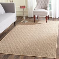 Safavieh Palm Beach Hand-Woven Jute Natural / Black Area Rug (8' x 10')