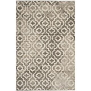 Safavieh Porcello Contemporary Moroccan Grey/ Ivory Rug (9' x 12')