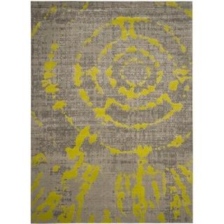 Safavieh Porcello Light Grey / Green Area Rug (9' x 12')