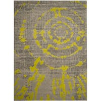 Safavieh Porcello Abstract Contemporary Light Grey/ Green Area Rug - 9' x 12'