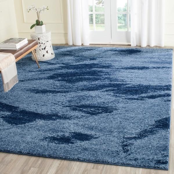Shop safavieh retro mid century modern abstract light blue - Mid century modern rug ideas ...