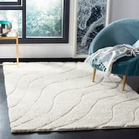Safavieh Florida Ultimate Shag Contemporary Light Blue / Blue Shag Rug - 8' x 10'