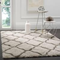 Safavieh Hudson Shag Ivory / Grey Area Rug (9' x 12')