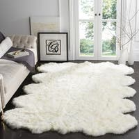 Safavieh Sheep Skin Hand-Woven Sheep Skin White Area Rug - 9' x 12'