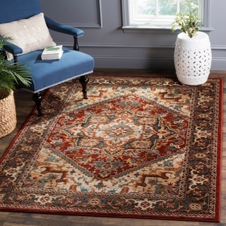 Safavieh Summit Red / Dark Grey Area Rug (6'7 x 9'2)