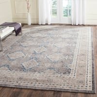 Safavieh Sofia Vintage Diamond Light Grey / Beige Distressed Area Rug - 10' x 14'