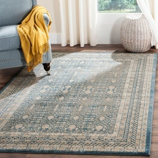 Safavieh Sofia Vintage Blue/ Beige Distressed Area Rug (10' x 14')