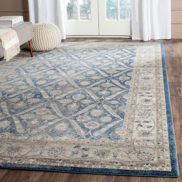 Shop Safavieh Sofia Vintage Trellis Blue Beige Distressed