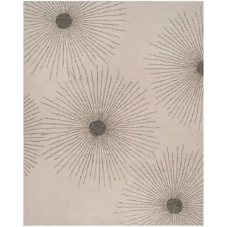 Safavieh SoHo Hand-Woven Wool Ivory / Silver Area Rug (7'6 x 9'6)