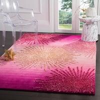 Safavieh SoHo Hand-Woven Wool Pink Area Rug - 7'6 x 9'6