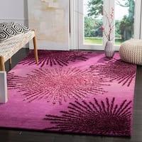 Safavieh SoHo Hand-Woven Wool Purple Area Rug - 7'6 x 9'6