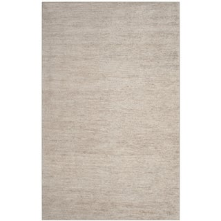 Safavieh Stone Wash Contemporary Hand-Knotted Grey Wool Rug (8' x 10')