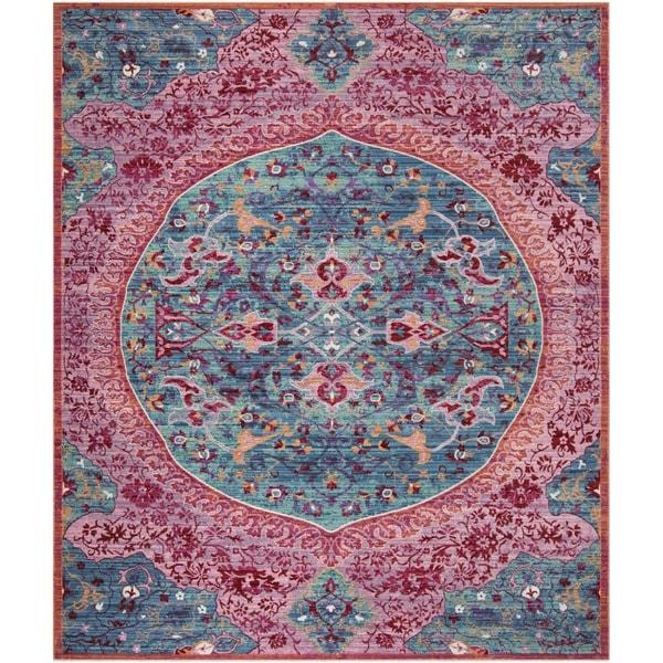 Zoubir Turquoise Area Rug Reviews: Shop Safavieh Sutton Boho Medallion Turquoise/ Fuchsia