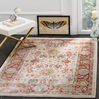 Safavieh Sutton Ivory / Brick Area Rug (8' x 10')
