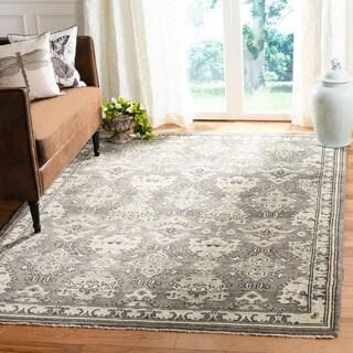 Safavieh Sivas Hand-Woven Wool Dark Grey / Light Grey Area Rug (9' x 12')