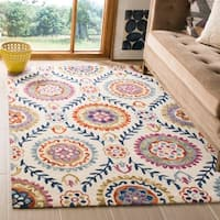 Safavieh Suzani Hand-Woven Wool Ivory / Multi Area Rug - 8' x 10'
