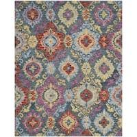 Safavieh Suzani Hand-Woven Wool Blue / Multi Area Rug - 8' X 10'