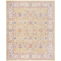 Safavieh Windsor Gold/ Lavender Distressed Silky Polyester Area Rug - 9' x 13'