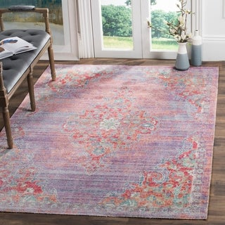 Safavieh Windsor Lavender/ Fuchsia Distressed Silky Polyester Area Rug (8' x 10')